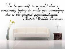 Vinyl Wall Decal Sticker Decor Saings Quotes Inspiring Ralph Waldo Emerson F1993