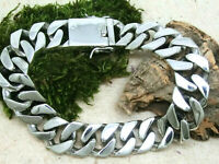 Panzerarmband Armband Herren 925 Sterling Silber Breite 1,5cm Länge 22,5cm 97gr.