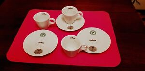 Lavazza Tierra espresso cups with saucers - three in a lot