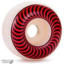 "SPITFIRE ""Classic"" Skateboard Wheels 51mm 99a WHITE / RED  Mini Ramp Park Street"