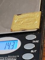 "STERLING SILVER STAMP 1898 $2 TRANS ""MISSISSIPPI RIVER BRIDGE"" 24KT GOLD PLATED"