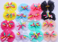 100 Colorful Cute Pet Dog Cat Curl YORKIE Puppy Bows Maltese, Chihuahau Shih Tzu