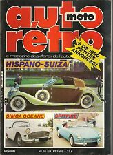 AUTO RETRO 59 DOSSIER 15p HISPANO SUIZA SIMCA OCEANE REYONNAH 1950 PORSCHE 928 S