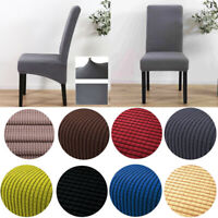 4× Dining Chair Covers Washable Knit Stretch Removable Chair Slipcover High Back