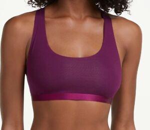 Calvin Klein Underwear Black Structure Cotton Bralette Plum Size M New with Tag