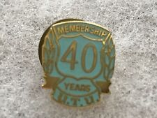 United Transportation Union 40 Years Membership Pin