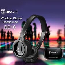 senza fili Stereo cuffie Trasmettitore auricolari FM Radio per TV MP3 PC B3X7