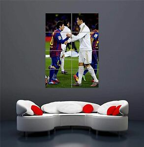 LIONEL MESSI RONALDO NEW GIANT WALL ART PRINT PICTURE POSTER OZ1087
