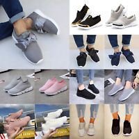 Womens Athletic Breathable Sneaker Slip On Sports Casual Low Top Trainers Shoes