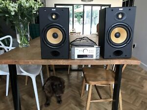B&W Bowers & Wilkins DM601 S1 Speakers With Denon Amp/tuner/aux