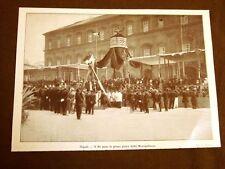Napoli nel 1913 Re Vittorio E. III prima pietra costruzione della metropolitana