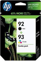 HP Genuine Ink Cartridge 2Pack 92 Black 93 Tricolor  EXP 10 / 2021