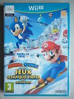 Mario & Sonic Aux jeux Olympiques D'hiver De Sotchi 2014 Jeu Vidéo Wii U