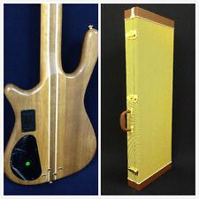 Caraya SPB-3212N 4-String Neck-thru Electric Bass Guitar Walnut+Deluxe Hard Case