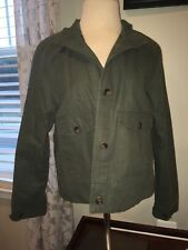 Women's Small Olive Green Button Up Coat Lightweight New With Tags