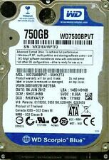 WD7500BPVT-55HXZT3,  SHOTJBB  WESTERN DIGITAL 750GB SATA