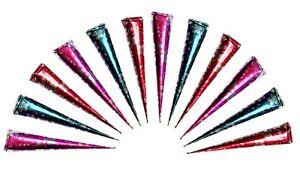 12 Cones 100% Natural Henna Cones Paste For Tattoos Body Art Freckles Designs