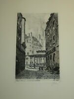 REBRY GRAVURE EAU FORTE ORIGINALE SAINT MALO BRETAGNE MARINE ILLE & VILAINE 1930