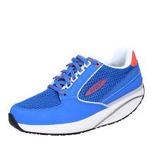 Scarpe Donna MBT 35 EU Sneakers Blu tessuto Pelle Dynamic Bx905-35