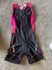 zoot womens triathlon skinsuit medium black/pink