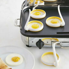2Pcs Silicone Round Egg Rings Pancake Mold Ring w/Handles Nonstick Fried Frying