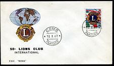 1967 - 50° Fondazione LIONS CLUBS - n.1059  - Busta FDC