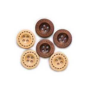 50pcs 4 Hole Wooden Button for Sewing Scrapbooking Clothing Handwork 12.5-18mm