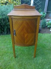 Edwardian Bow Front Cupboard/Cabinet/Storage