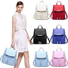 Women's PU Leather Satchel Shoulder Backpack School Rucksack Bags Travel Lot