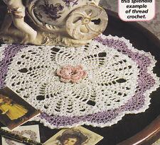 Crochet Pattern ~ PINEAPPLE FAN Doily ~ Instructions
