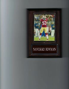 NAVORRO BOWMAN PLAQUE SAN FRANCISCO FORTY NINERS 49ers FOOTBALL NFL