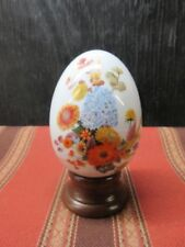 Vintage Avon GIFTS OF NATURE Porcelain Egg - 1987 - Autumn's Color - w/stand