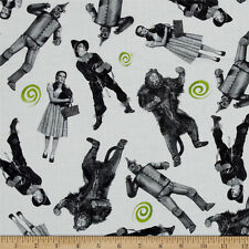 WIZARD OF OZ  WICKEDNESS CHARACTERS ALLOVER  100% COTTON FABRIC   64X43 INCHES