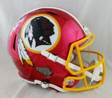 Adrian Peterson Signed Washington Redskins F/S Chrome Helmet- Beckett Auth *Wh