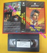 VHS film ALL'ULTIMO RESPIRO Richard Gere DOMOVIDEO 36102 96 minuti (F142) no dvd