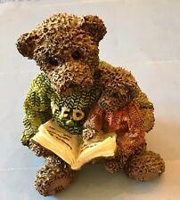 Ted & Teddy Father/Son Bear Reading Book Non-Boyd's 2223 Figurine