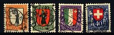 SVIZZERA - 1923 - Pro Juventute. Stemmi cantonali e nazionali