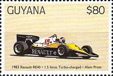 Guyana postfrisch MNH Auto Formel 1 F1 Sport Renault Re 40 Turbo Alain Prost