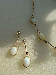 585 Goldfilled Opal Ohrringe modernes Design