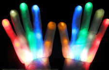 Great Multicolor LED Flashing Glove Light Up Halloween Dance Rave Campfire Party