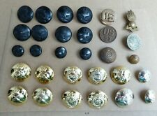 AUSTRALIAN AND WORLD MILITARY BUTTON BADGE LOT MIXED PERIODS  US 53RD ETC