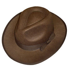 Indiana Jones Style Explorer Hat in Brown with Brown Band Adult Size