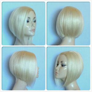 BOB SHORT HIGH HEAT RESISTANT HAIR TOP PART BLONDE LADY WOMENS DAILY FULL WIG UK