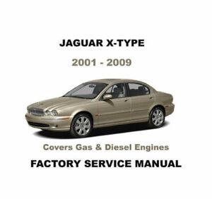 JAGUAR X-TYPE X400 WERKSTATTHANDBUCH REPARATURANLEITUNG 2001 - 2009