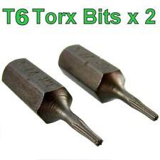 Broca Torx T6 tornillo Driver 2 Pack Tx6 Socket Teléfono Cámara Pequeña Pequeña