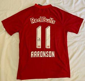 Brenden Aaronson signed #11 2021 Red Bull Salzburg soccer jersey Team USA