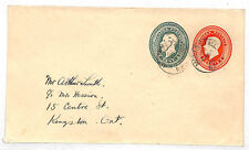 VV84 1940 Canada COMPOUND KGV STATIONERY Railway RPO CDS Cover {samwells-covers}