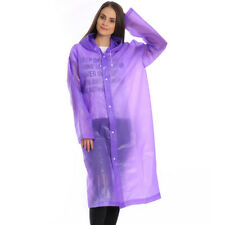 Men Women Waterproof Jacket PE Hooded Raincoat Rain Coat Poncho Rainwear