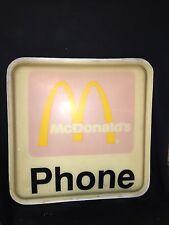 """1970's 22 3/4"""" McDonald's Phone Sign"""