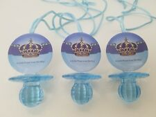 Prince Pacifier Necklaces Baby Shower Game Favors 12 Blue It's a Boy Decorations
